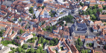 Aerial view of the Old Town.
