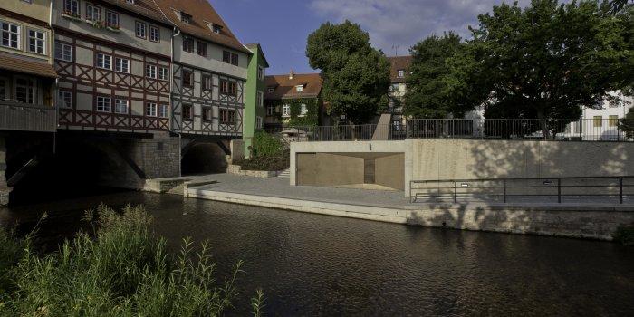 Außenanlage hinter der Krämerbrücke