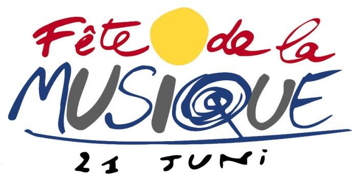 Logo fête de la Musique mit Schriftzug und Datum
