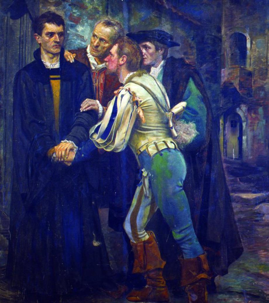Szenen Aus Dem Leben Martin Luthers Gemäldezyklus Im Rathaus Zu