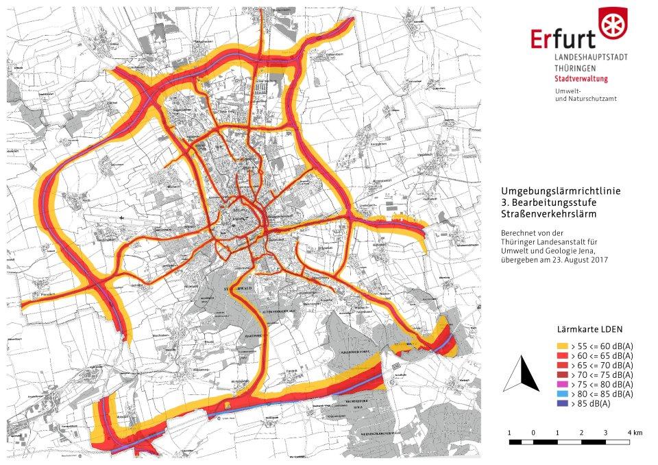 Geologische Karte Thüringen.Lärmaktionsplanung Umsetzung Der Eg Umgebungslärmrichtlinie