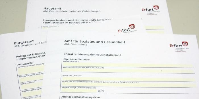 Formulare Und Onlinedienste Erfurt De