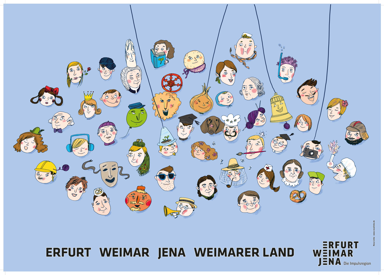 Imagekampagne der Impulsregion Plakate laden zur