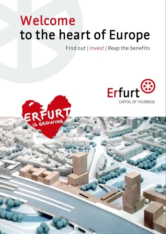 Welcome to the heart of Europe, Erfurt is growing