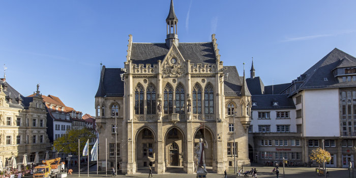Exterior from Erfurt city hall""